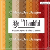 Be Thankful A4 size Digital Papers Package 2