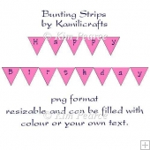 Bunting Strips Template