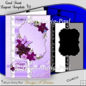 Layered Card Front Layout Template #2