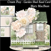 Cream Posy - Garden Shed Easel Card