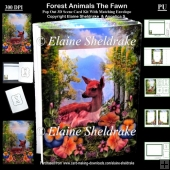 Forest Animals The Fawn - 3D Pop Out Concertina Scenic Box Card