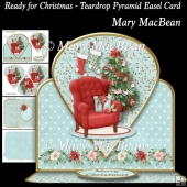 Ready for Christmas - Teardrop Pyramid Easel Card