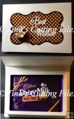 Chocolate Gift Box In A Card Wrap size 240mm X 170mm X 20mm