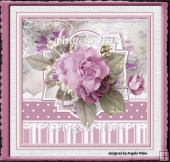 Lilac rose 7x7 card