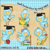 Sweet Birdies School ClipArt Graphic Collection