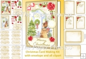 Traditional Christmas Card 20 tags, 3 inserts, envelope