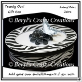 Trendy Oval Gift Box - Zebra