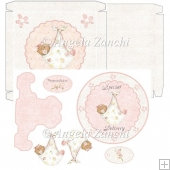 Ethnic Baby Girl Plate Card and Box