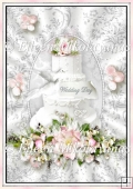 Gorgeous Wedding Cake Backing Background Paper