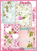 Hearts Galore Valentine Day Romance Background Papers