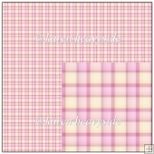 Pink Plaid 1 Backing Paper