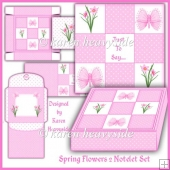 Spring Flowers 2 Notelet Set