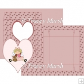 Valentine Girl Heart Window Box Card Set