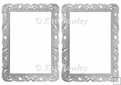Lovely silver ornate frames/card fronts/ toppers/ Inserts/ A5
