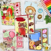 Sweet Treats Asymmetric Card Bundle