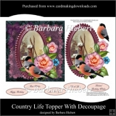 Country Life Topper with Decoupage