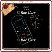 RS812 Text Me Rhinestone Template