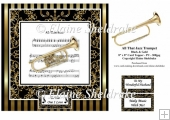 All That Jazz Trumpet Music Sheet - 8 x 8 Card Topper - PU 300 d