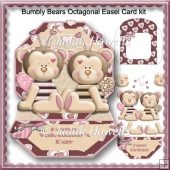 Bumbly Bears Octagonal Easel Card Kit