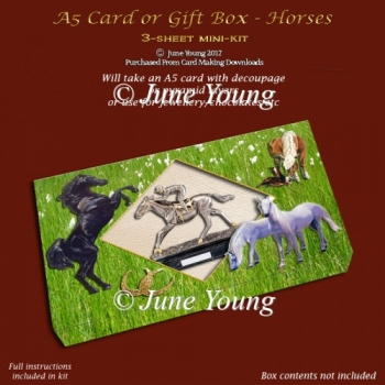 A5 Card or Gift Box - Horses