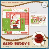 Time For Santa Square Card Front