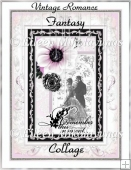 Vintage Romance Wedding Fantasy Collage for Cards, Crafts