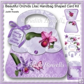 Beautiful Orchids Lilac Handbag Shaped Card Kit