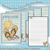 Summer Flip Flops Recipe Book/ Mini Diary