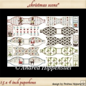 New size paper bows christmas scene