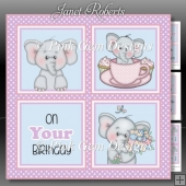 Ella Birthday Squares 2 Mini Kit