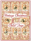 Vintage Christmas Child Tag Set