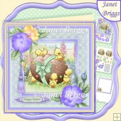 Easter Egg Fun 7.5 Decoupage & Insert Kit