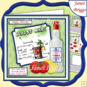 I DON'T MIND SALAD 7.5 Humorous Vodka Decoupage & Insert Kit