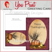 Pumpkin Scene 2 Happy Thanksgiving Full Card & Card Front