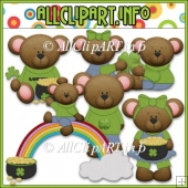 Lucky Little Bears Commercial Use Clip Art