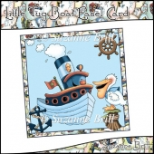 Little Tug Boat Easel Card