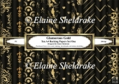 Glamourous Black & Gold - Ten A4 Backing Papers - Set One