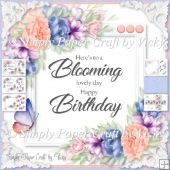 Floral Word Art Birthday 2