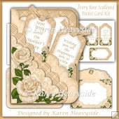 Ivory Rose Scalloped Pocket Card Kit