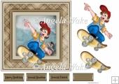 Skate board boy 7x7 card