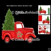 Red Christmas Truck Shaped Card