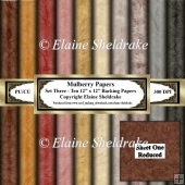 Shades Of Brown Mulberry Paper - Set Two - Ten 12 x 12 Printable