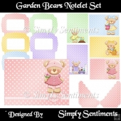 Garden Bears Notelet Set