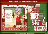 Veras Christmas Drinks 4 Sheet Mini Kit