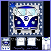 BLUE STAR CAMPER VAN card kit