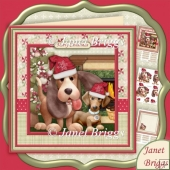 Christmas Fur Buddies 8x8 Decoupage & Insert Kit