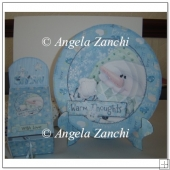 Snowman Plate Card With Gift Box