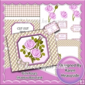Pink Roses Shadow Box Card