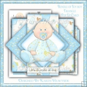 Bundle Of Joy Boy Triangle Pop Up Card