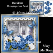 Blue Roses - Decoupage Card